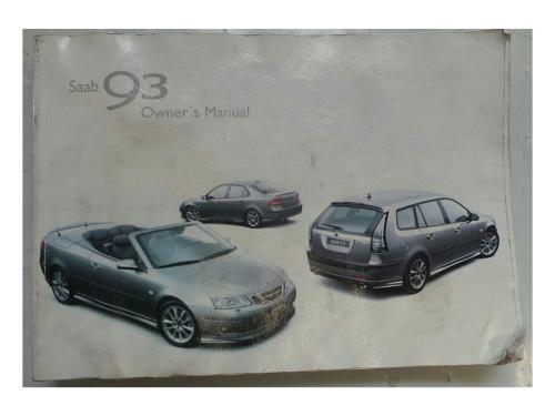 small resolution of  saab 9 3 2003 2007 owners handbook manual wallet 7326316