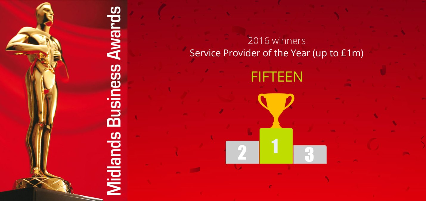 Fifteen win at the Midlands Business Awards 2016!