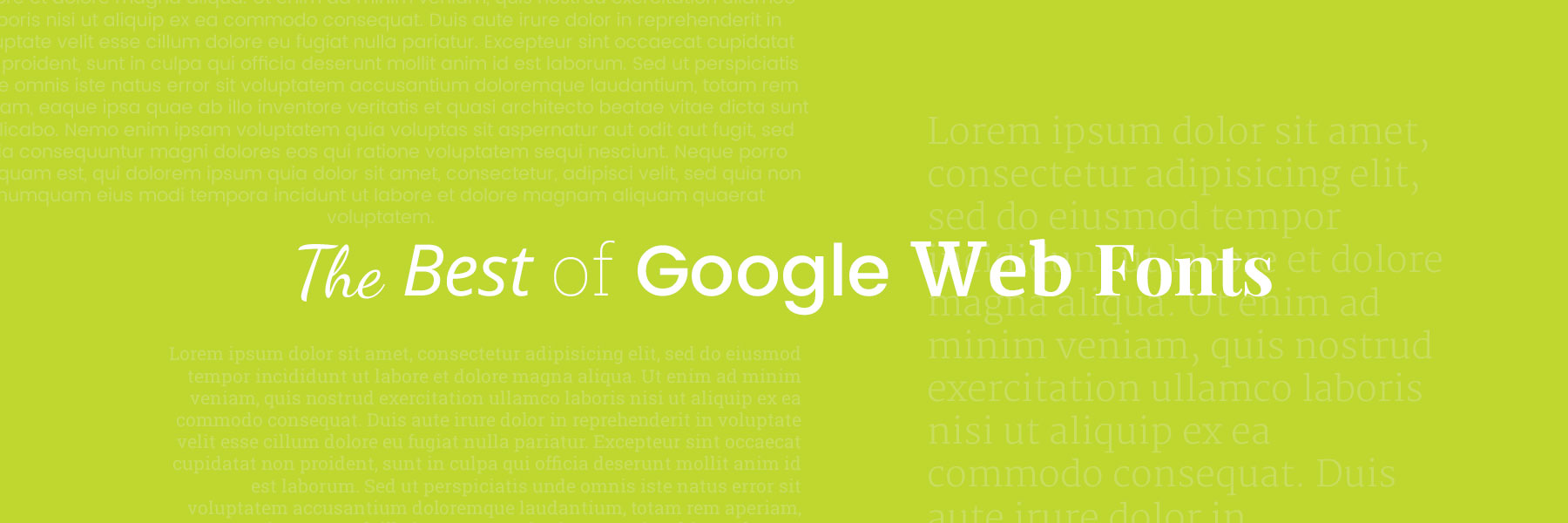 The Best of Google Web Fonts