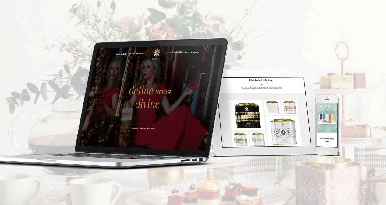 Par-tea Time For Amber Rose Tea Company's New E-commerce Website
