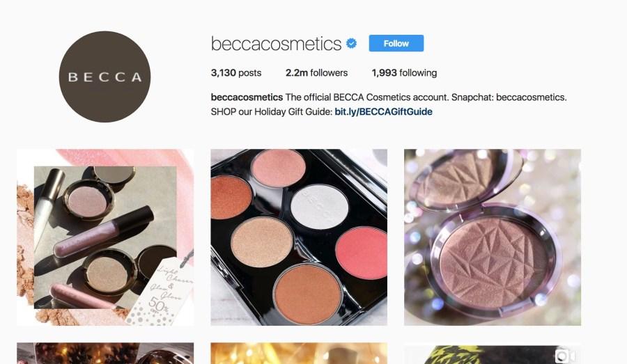 Becca Cosmetics Instagram