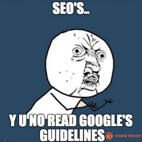 SEO guidelines meme