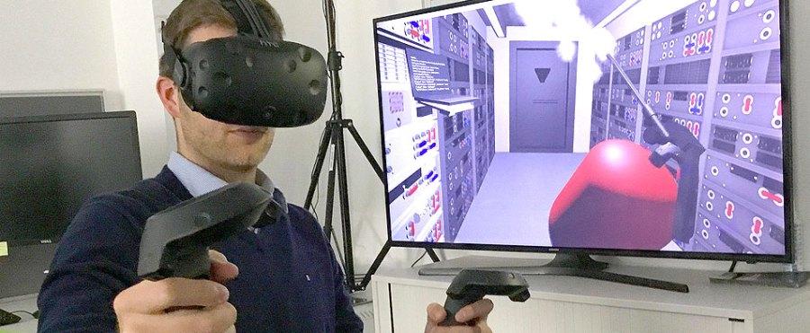 A VR user
