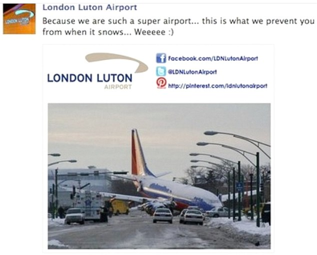 London Luton Airport Advert (Source: Evening Standard)