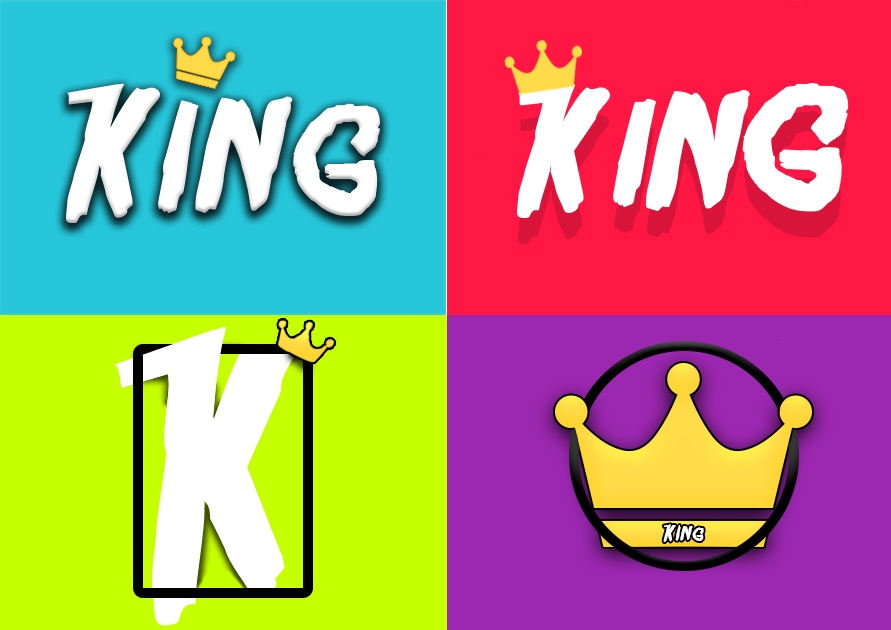 Logo Designs for King (Source: Joe Whittaker)