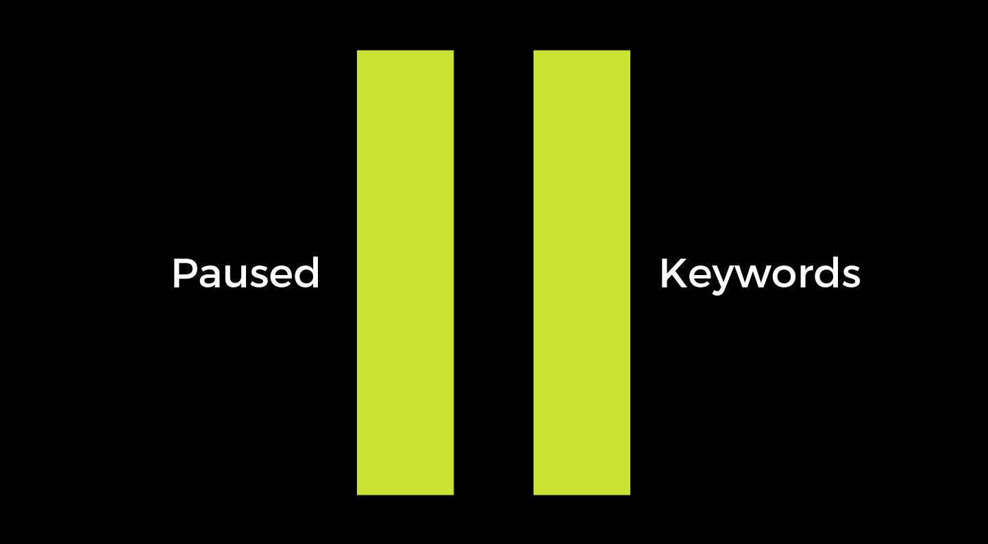 Paused Keywords