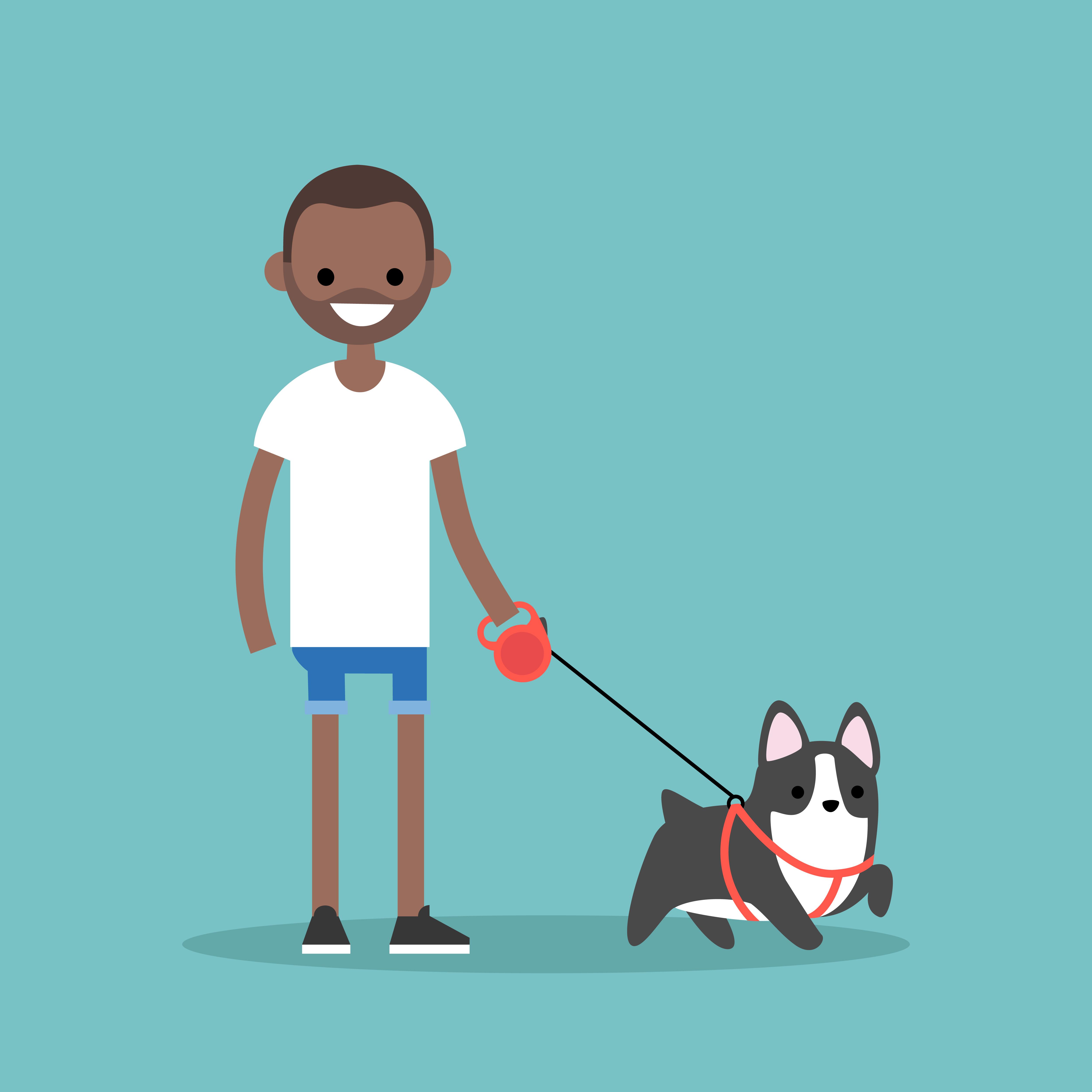 Go for a walk cartoon (Shutterstock)