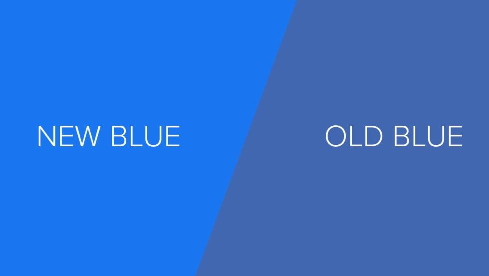 New vs Old Facebook blue