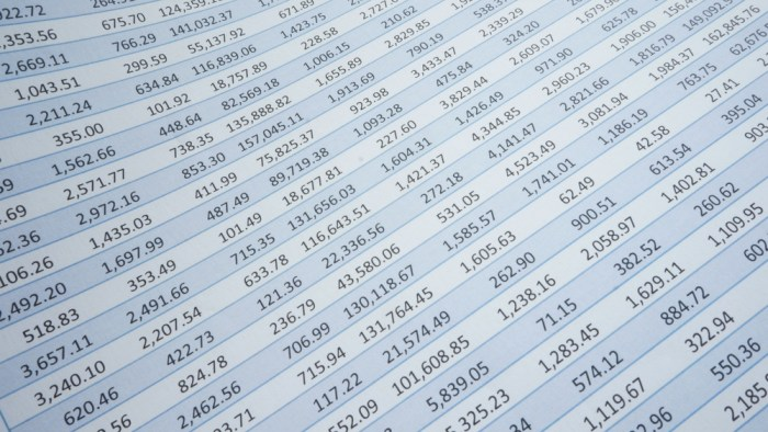 SEO audits example spreadsheet