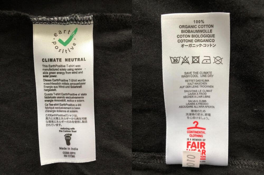 garment labelling requirements for