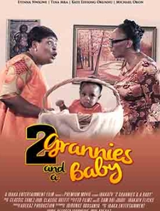 Two Grannies And A Baby Poster