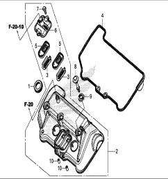 engine diagram car parts download honda motorcycle 2017 crf1000 honda parts section cylinder head cover [ 1561 x 1171 Pixel ]