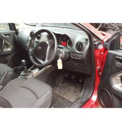 alfa romeo mito 2016 on tb twinair 3 door hatchback scrap salvage car for sale auction silverlake autoparts [ 1600 x 1200 Pixel ]