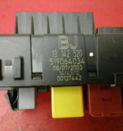 vauxhall vectra c rec rear electrical control module fuse box bj 2002 2009 [ 1600 x 1200 Pixel ]