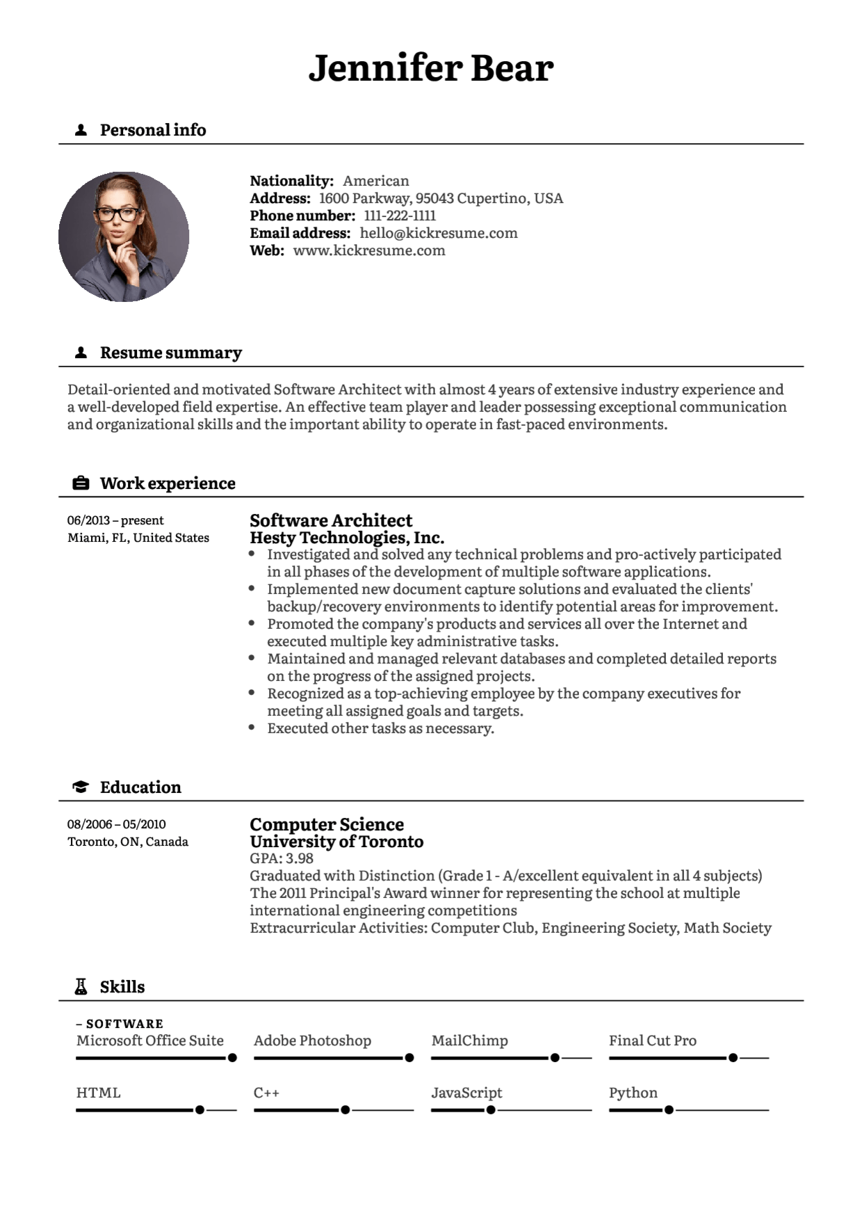 Kickresume  Create a perfect resume in minutes and land