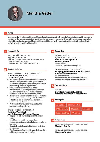 resume templates canada 2017