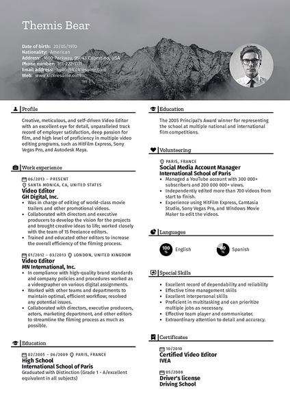 chrome resume templates