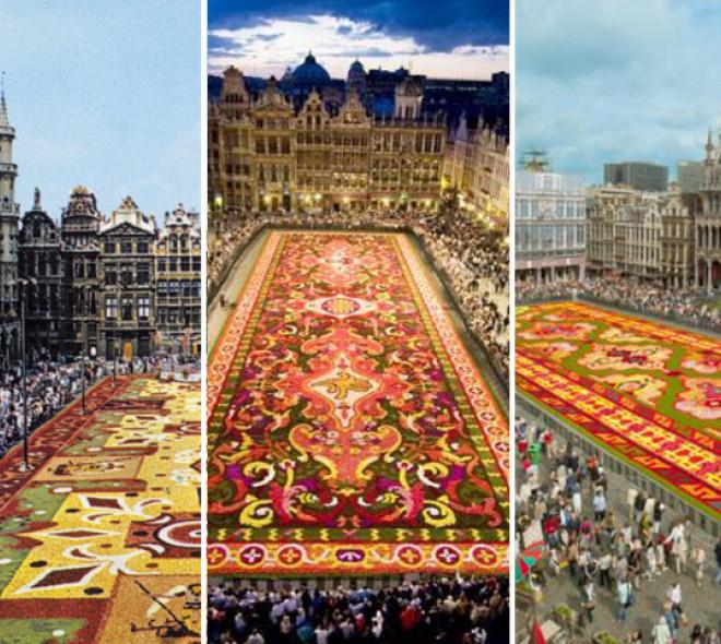 retrospective des tapis de fleurs