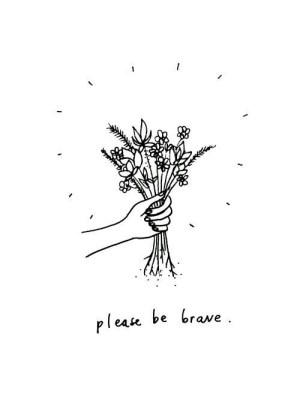 flowers aesthetic drawing quote drawings simple favim quotes positive brave grunge sketch heart hand cool face pretty hands