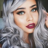 fashion, girls, grey, hair color, hair colour