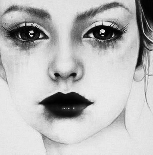 art, beautiful, beauty, black and white, drawing
