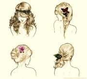 beautiful drawing hair sketching