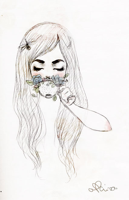 art, cute, drawing, girl, lol