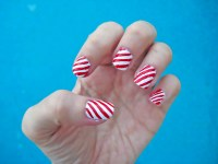 candy cane, hand, nail art, nail polish, nails - image ...