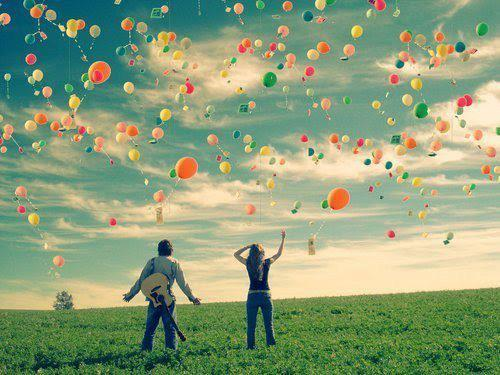 2 people, balloons, cool picture, love, nice