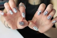 Cool Nail Polish Designs Black White#*^