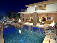 backyard, expensive, house, luxury, pool - image #438393 ...