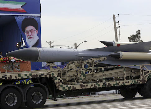 A missile on display at an Iranian Army parade / AP