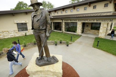 The museum, at John Wayne's birthplace in Winterset, Iowa, opened on  Saturday / AP