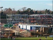 SK6980 : Construction Site for The Oaks High School Retford by B Hilton