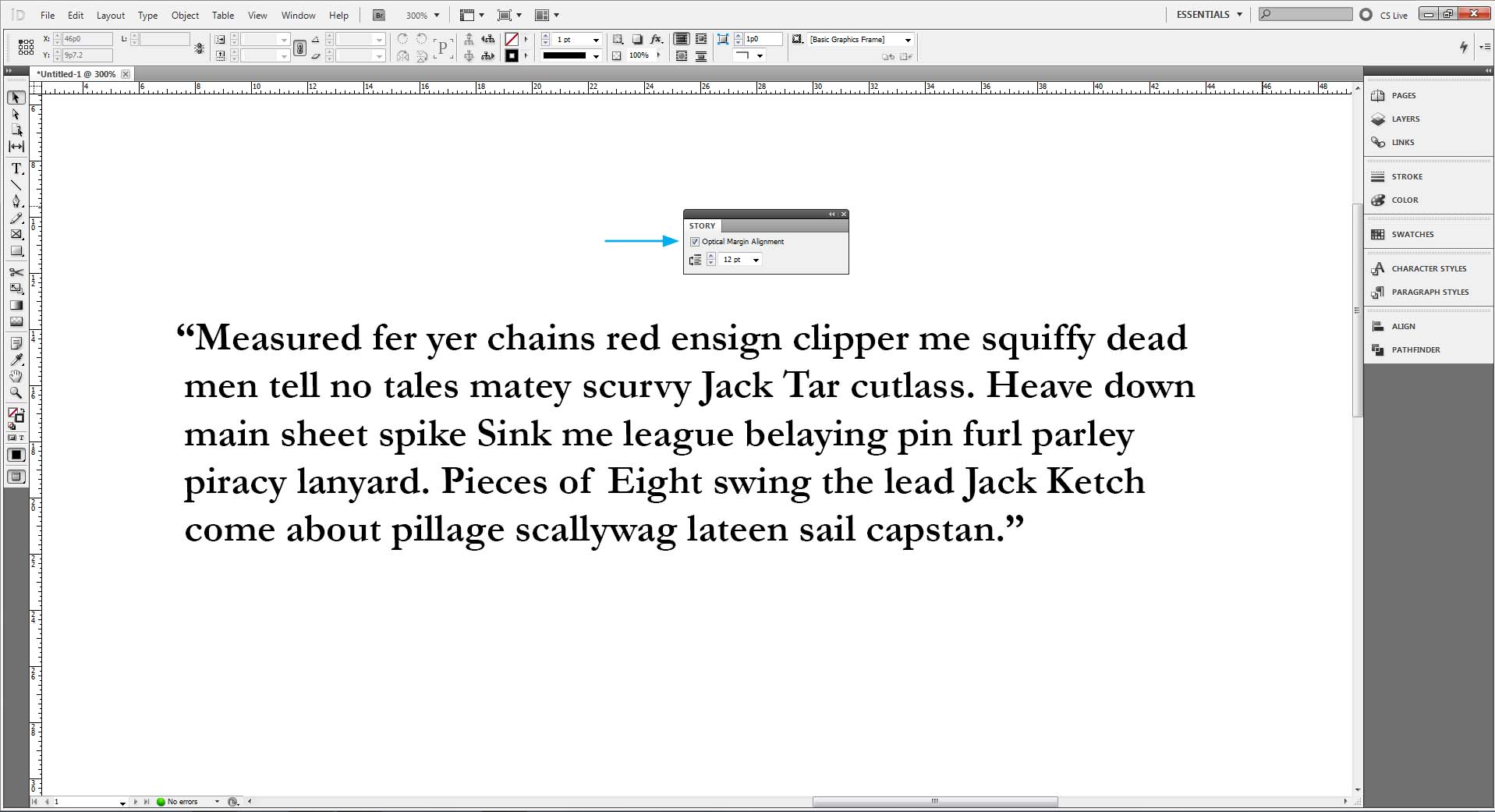 Hanging Punctuation In Indesign And Illustrator