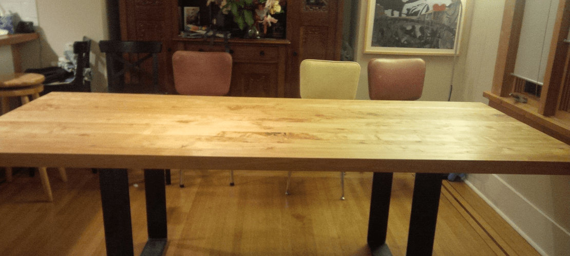maple kitchen table hickory shaker style cabinets cropped w danish oil daniel s 2 tried true