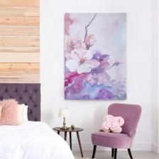 Πίνακας σε καμβά PINK FLOWERS WATERCOLOR