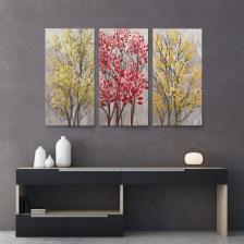 Τρίπτυχος Πίνακας MODERN ABSTRACT TREES