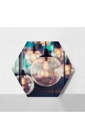 Εξάγωνος Πίνακας LIGHT LAMP