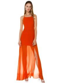 Φόρεμα από μουσελίνα με διαφάνεια - ΚΕΡΑΜΜΥΔΙ