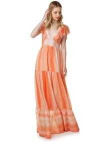Maxi εμπριμέ φόρεμα με βολάν - ΜΠΑΤΙΚ