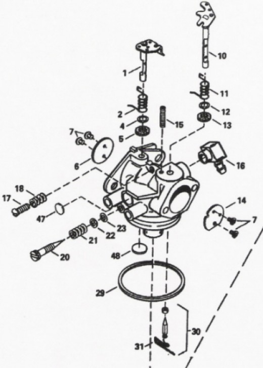 Tecumseh 6 5 HP Carburetor Diagram