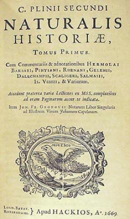 An old translation of Pliny's Natural History
