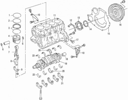 Nissan 1400 engine diagram