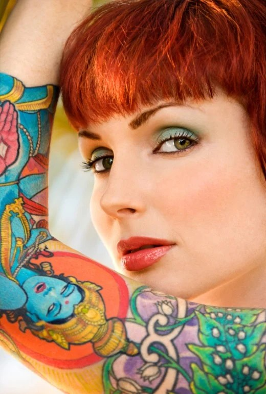 12 tattoo designs is this stunning lil redhead with her Hindu Tattoo !