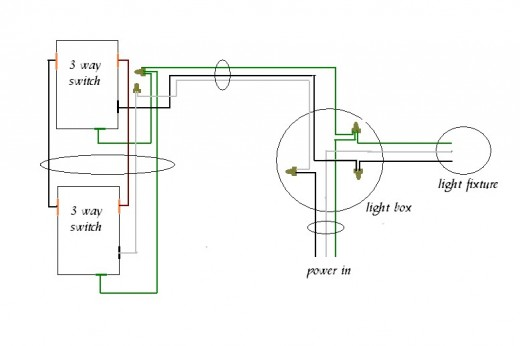 how to wire two lights to one switch diagram