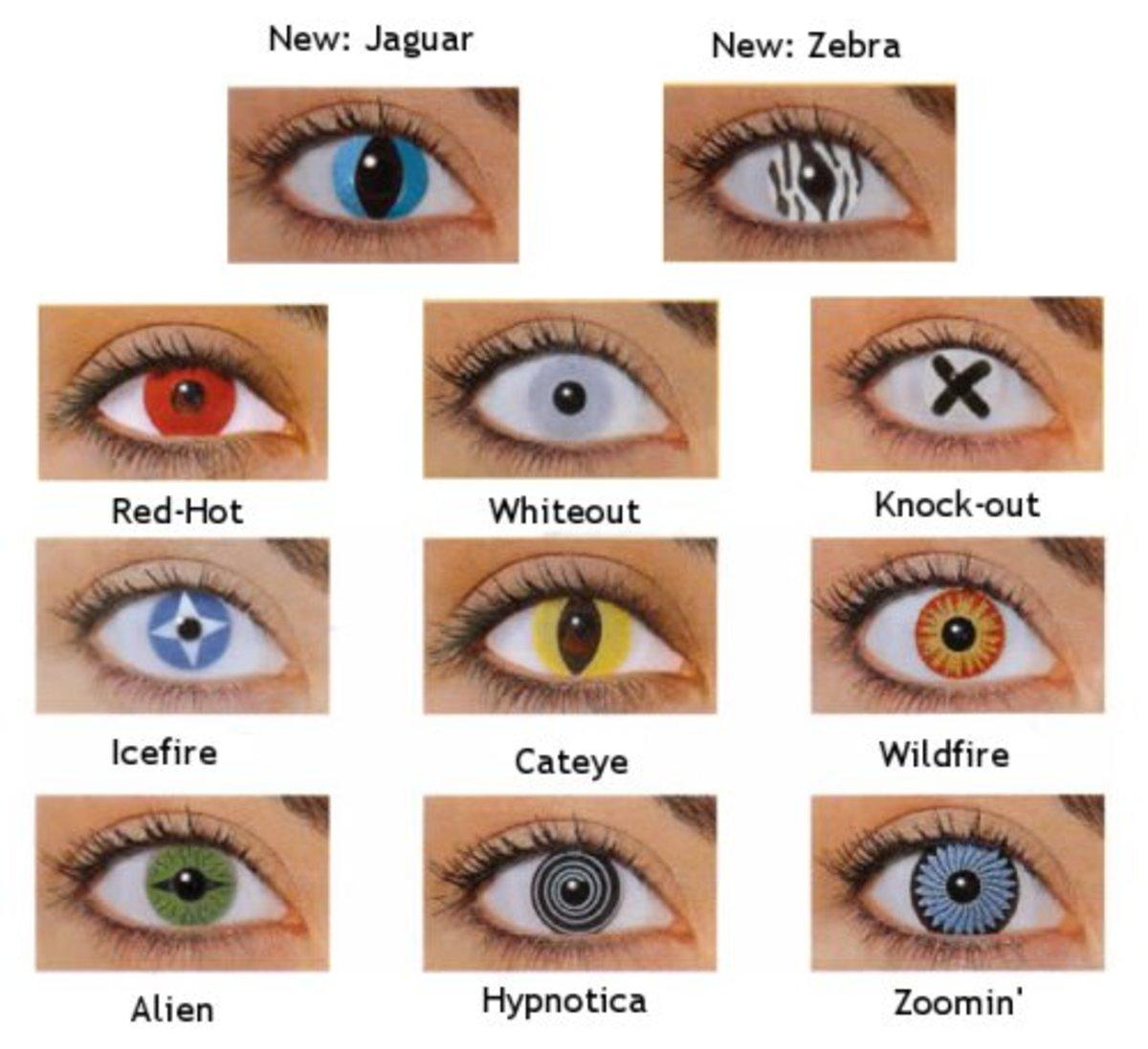 Crazy Halloween Contact Lens Lenses