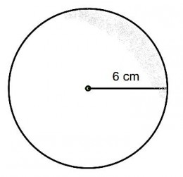 What is the surface of a sphere which has a radius of 6cm