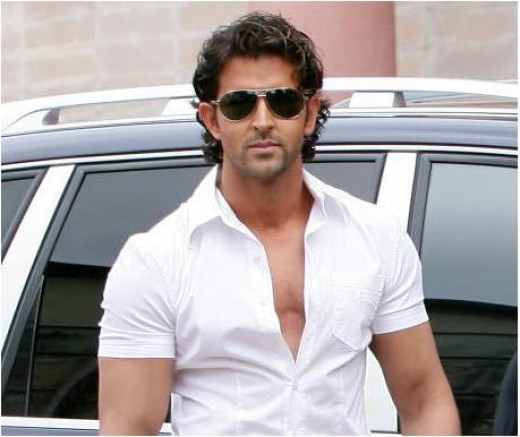 Yep; Hrithik does a fine job at displaying his chest in its blazing glory; note he has a slick V, and doesn't have more than 30-40% of it on display (But for events of a more formal nature, I would keep the upper abs a little more concealed =))