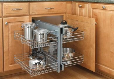 Blind Corner Cabinet Storage Solution
